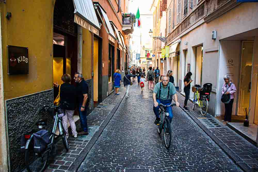 Parma Italy Street Scene with Bicycle
