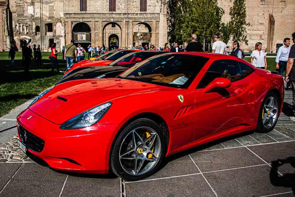 Red Ferrari in Parma Italy