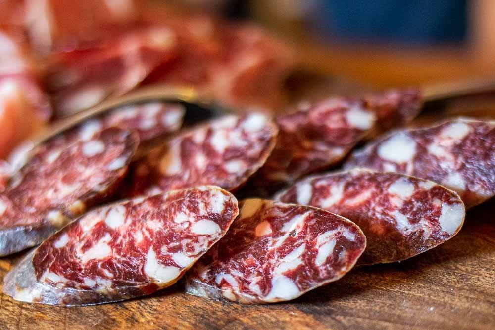 Salami at Antica Corte Pallavicina in the Food Valley