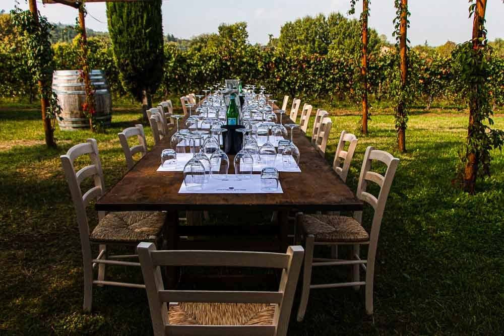 Tasting Table at Tenuta Venturini Baldini in the Food Valley