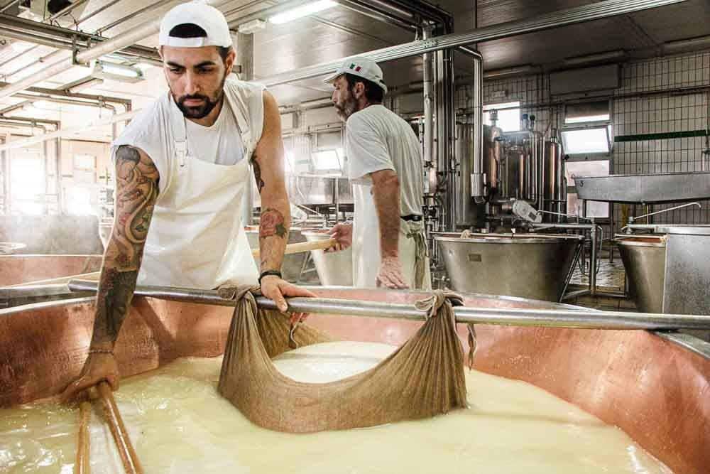 Tattooed Cheesemaker at Latteria Sociale S.Stefano in the Food Valley
