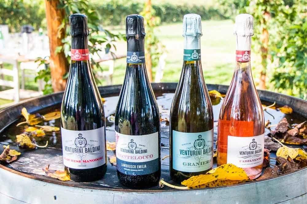 Wine Bottles at Tenuta Venturini Baldini in the Food Valley