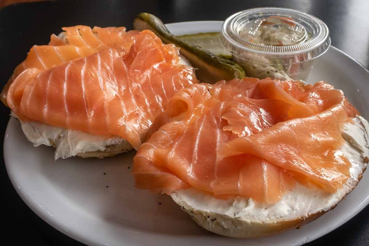 Bagel and Lox in New York