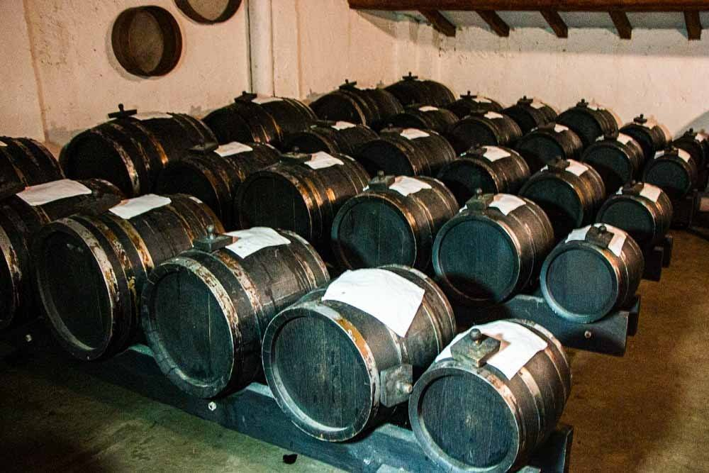 Balsamic Vinegar Barrels at Acetaia Villa San Donnino near Modena
