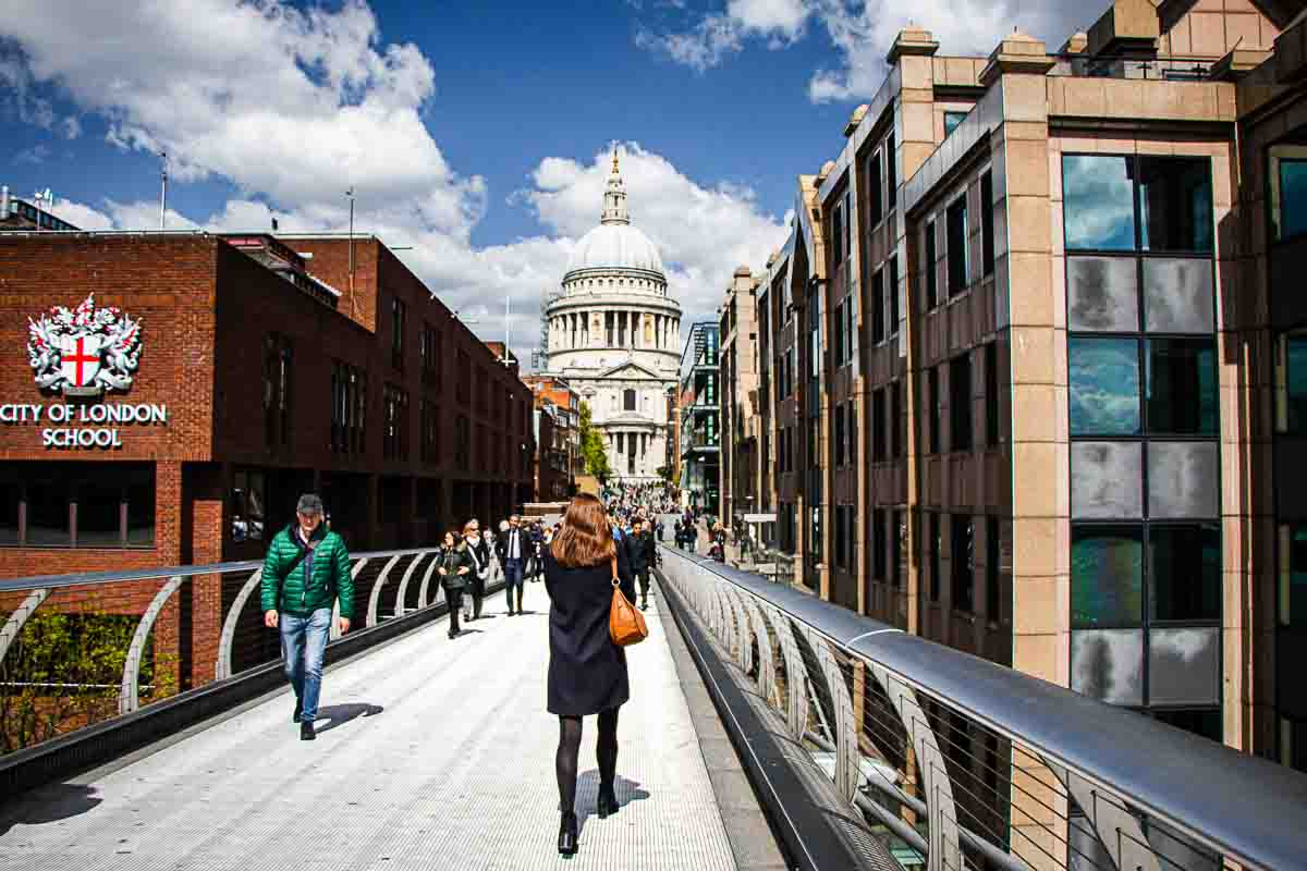 Bridge to St Paul in London