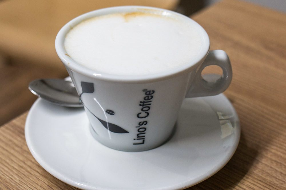 Cappuccino at Linos Coffee in Parma