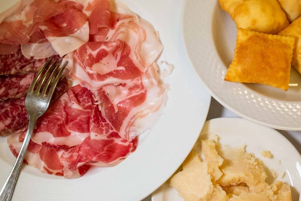 Cured Meat at Trattoria Ai Due Platani in Parma