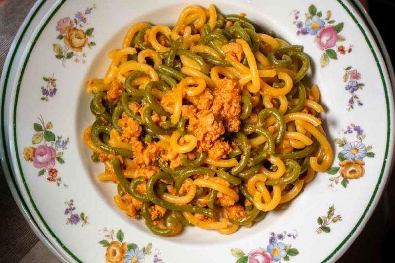 Gramigna with Sausage Sauce at Ristorante da Danilo in Modena