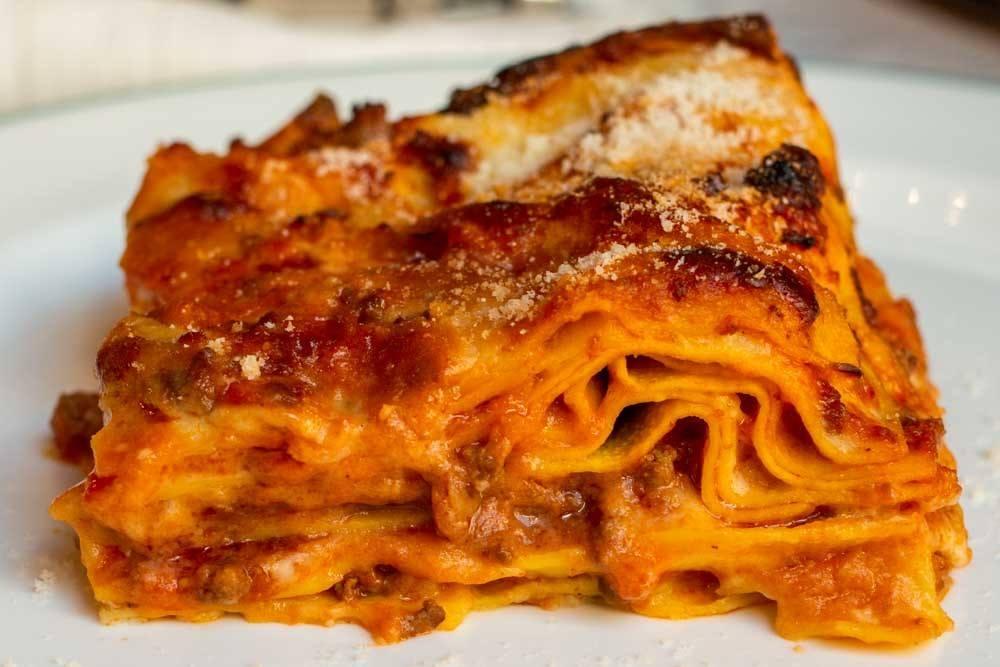 Lasagna at Il Trovatore in Parma