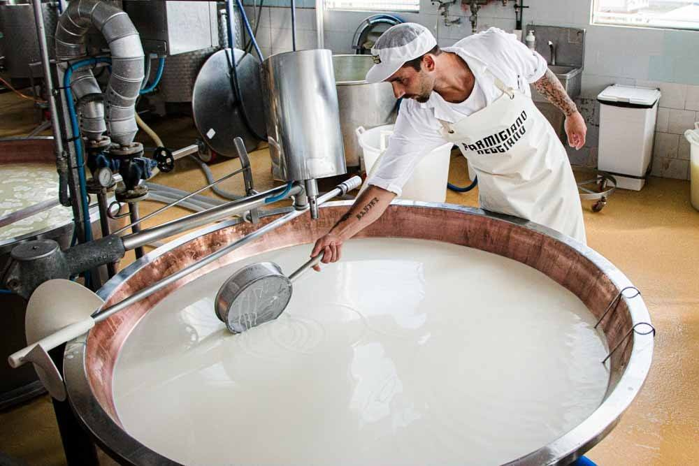 Parmigiano Reggiano Cheesemaker near Modena