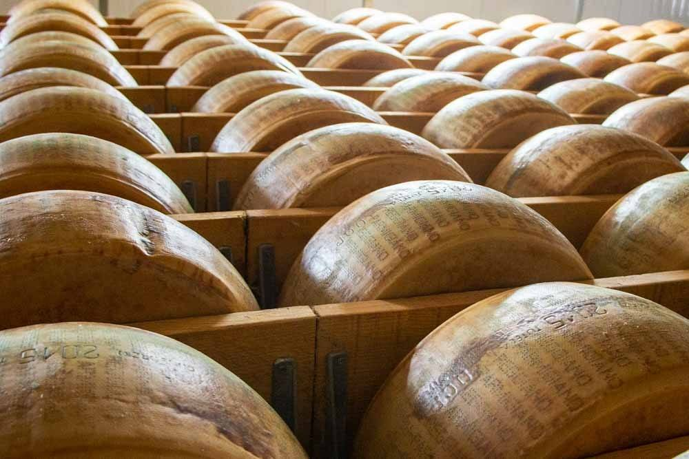 Parmigiano Reggiano Wheels in Modena