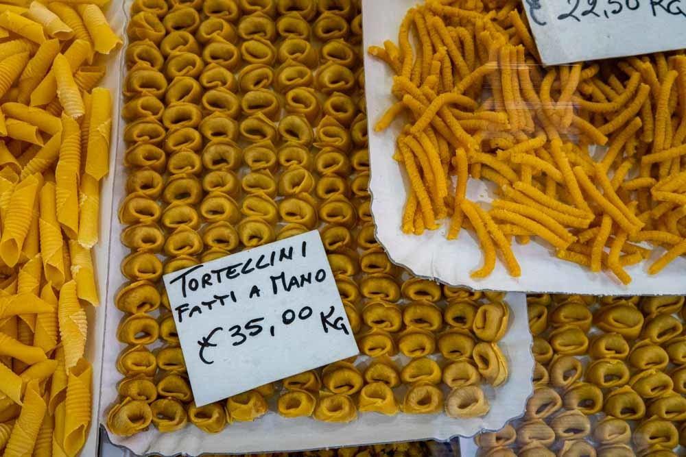 Pasta at Mercato Albinelli in Modena