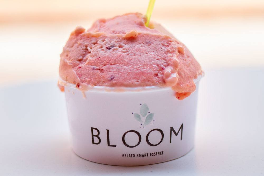Peach Gelato at Bloom in Modena
