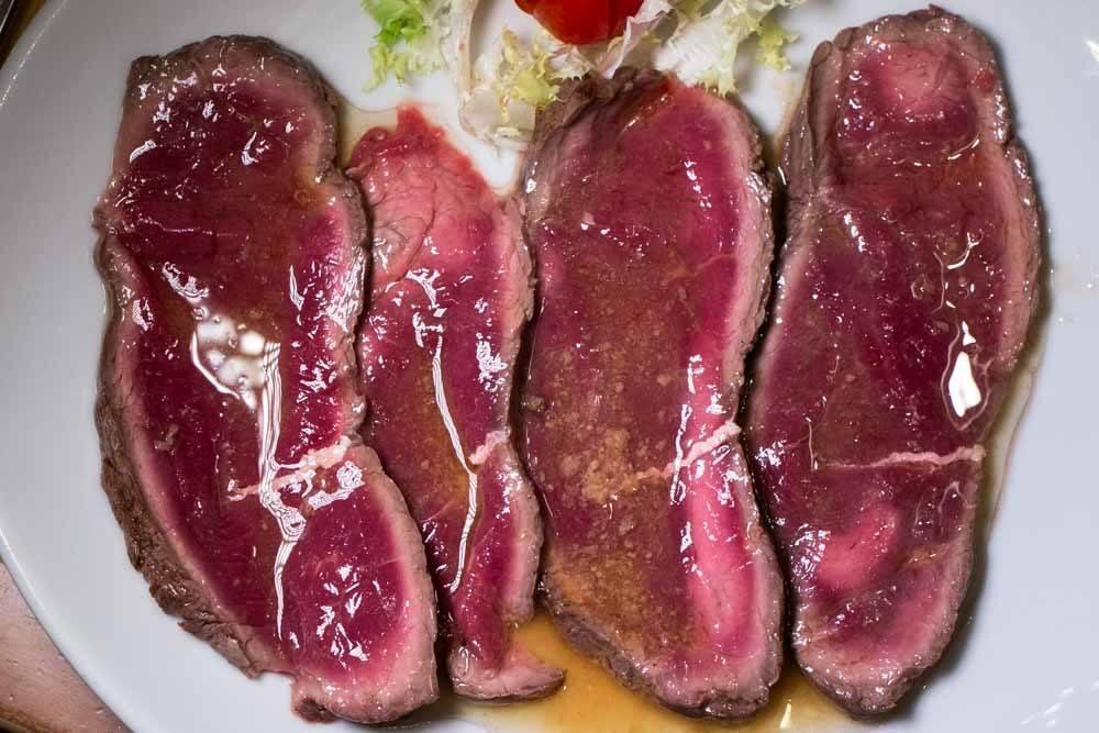 Roast Horse Meat at Osteria Dello Zingaro in Parma