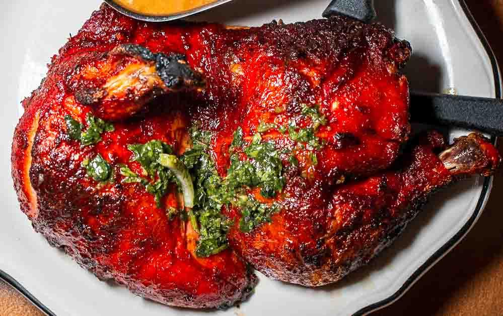 Rotisserie Chicken at Le Coq de L Eest in Montreal