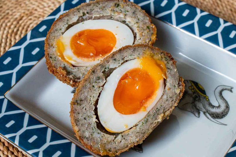 Scotch Egg at Fortnum and Mason in London