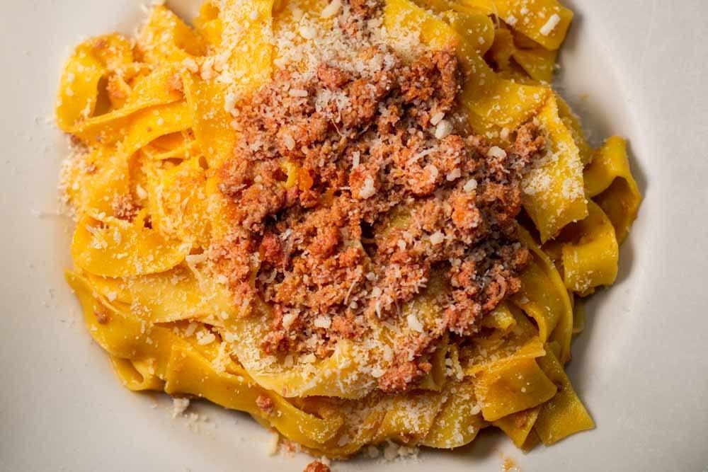 Tagliatelle al Ragu at Osteria Ermes Modena in Modena