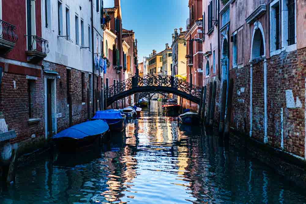 Venice Canal with Reflections