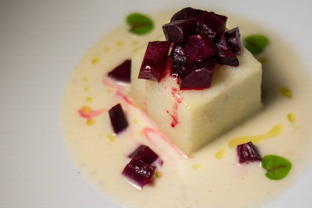 White Polenta Pudding at Angiol dOr in Parma