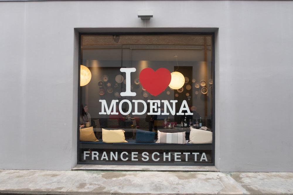 Window at Franceschetta 58 in Modena