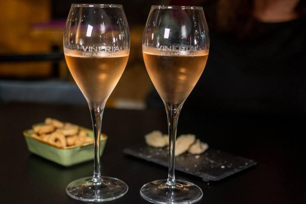Wine at Vineria Giramondo in Parma