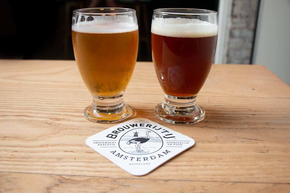 Beer at Brouwerij t IJ in Amsterdam