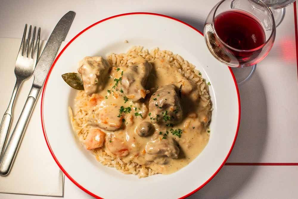 Blanquette de Veau at Bouliion Pigalle in Paris