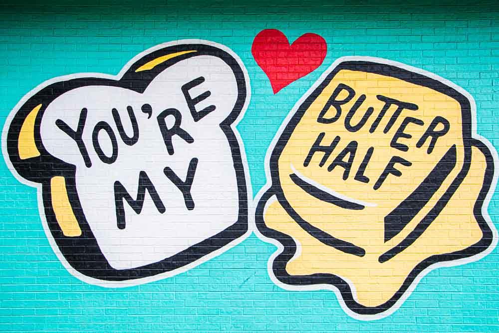 Butter Half Mural in Austin