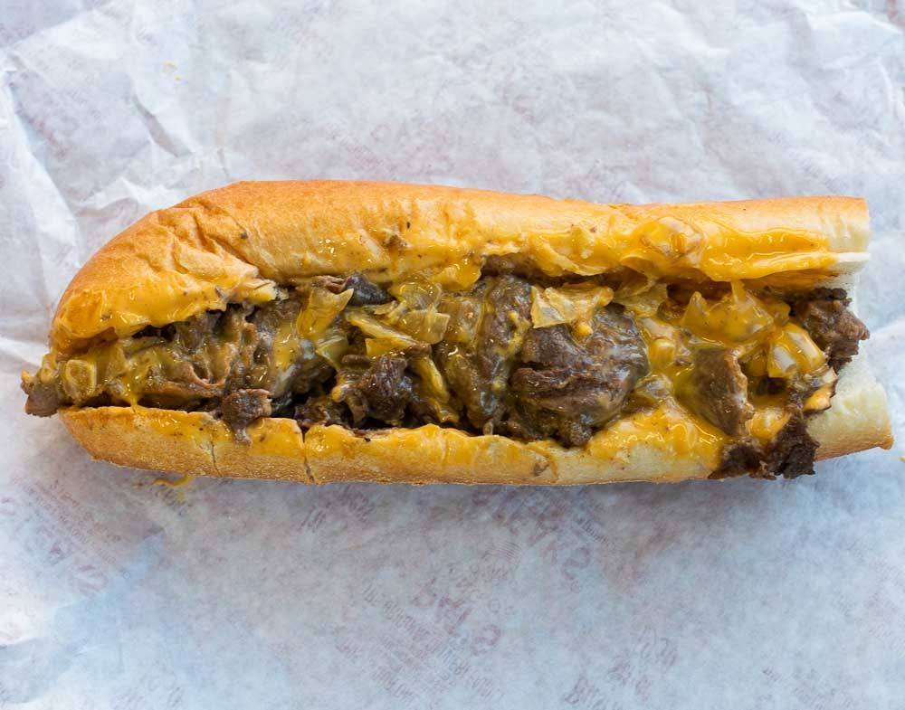 Cheesesteak at Pats Steaks in Philadelphia