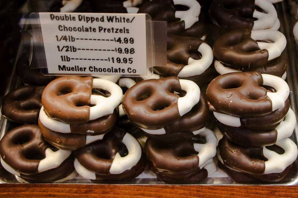 Chocolate Dipped Pretzels in Philadelphia