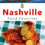 Pinterest image: two images of Nashville with caption reading '8 Portland Food Favorites'