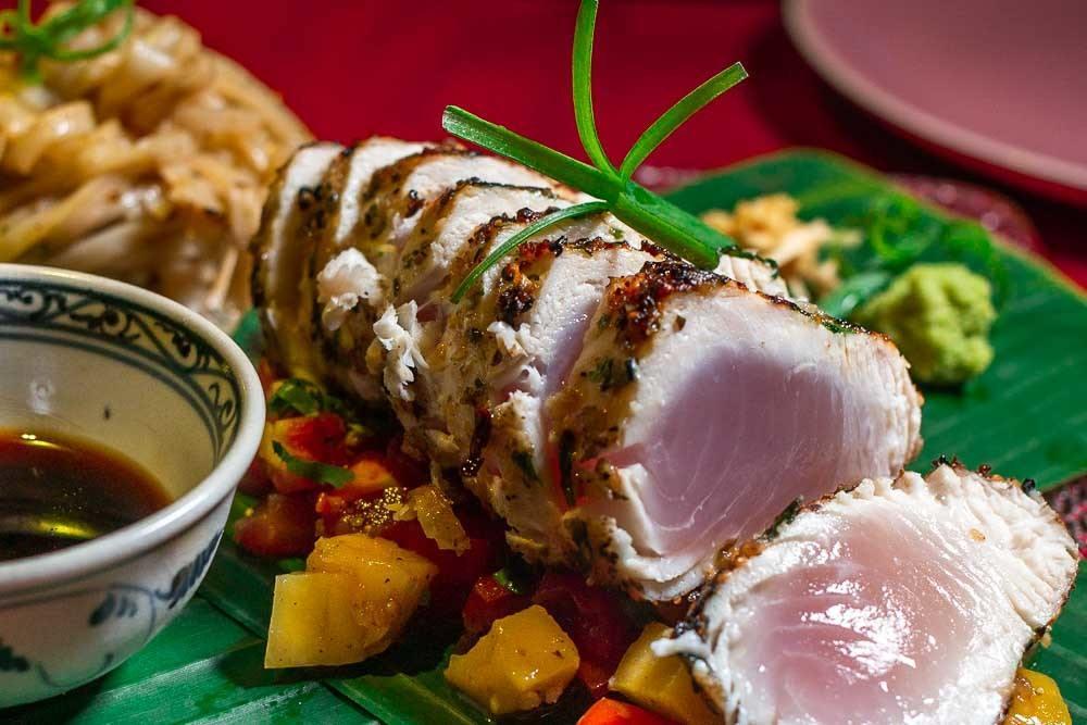 Seared Tuna at Mango Mango in Hoi An