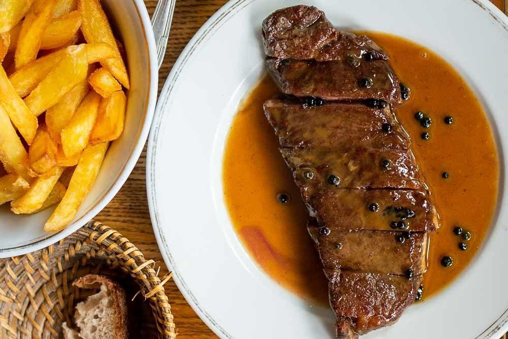 Steak Frites at La Bourse et La Vie in Paris