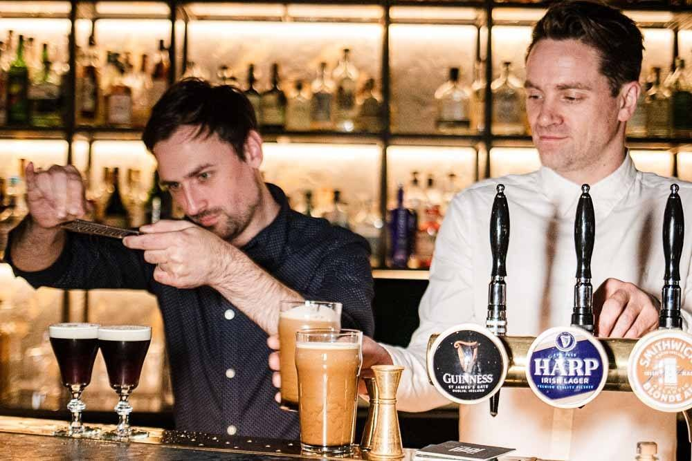 Bartenders at Bar 1661 in Dublin