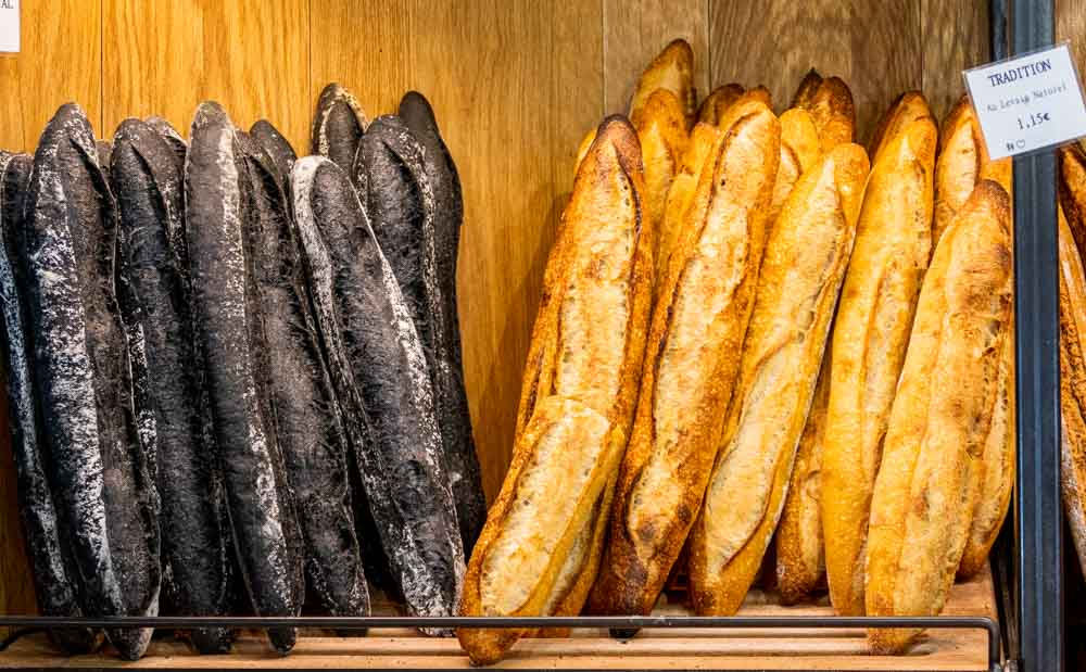 Black and White Baguettes at Boulangerie Utopie in Paris