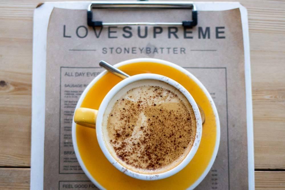 Cappuccino at Love Supreme in Dublin
