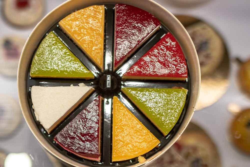 Cheesecake Rainbow at Senoble in Paris