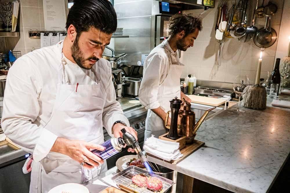 Chef Pierre Touitou with Blow Torch at Vivant 2.jpg