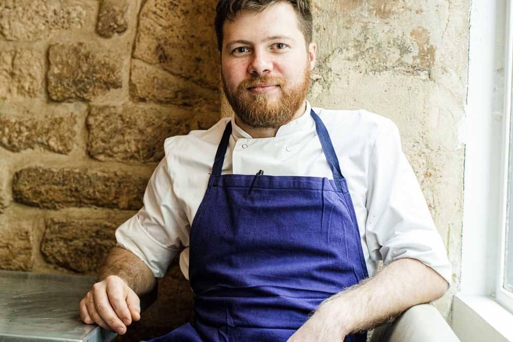Chef Sasha Minins at Frenchie in Paris