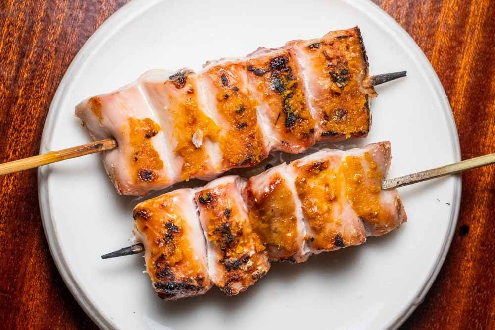 Chicken Thigh Yakitori at Le Rigmarole in Paris
