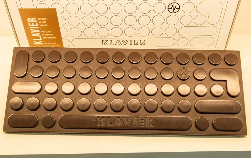 Chocolate Klavier at Michalak in Paris