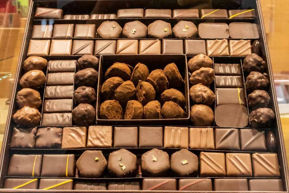 Chocolates at La Maison du Chocolat in Paris