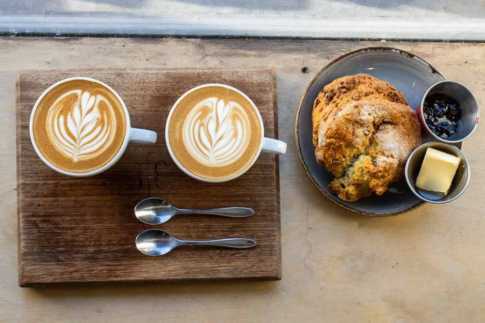 Coffee and Scone at 3FE in Dublin