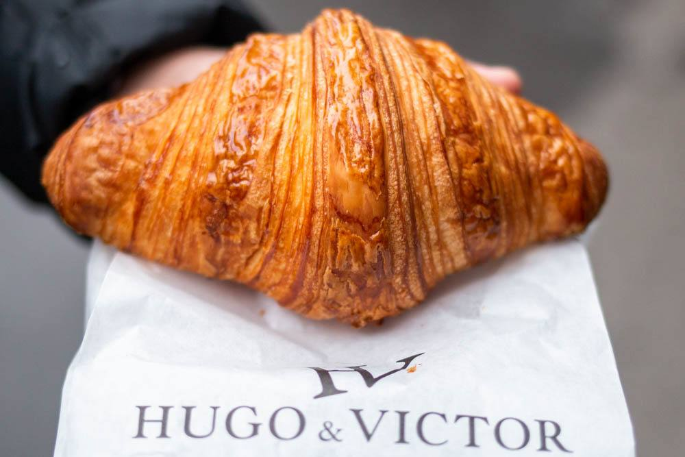 Croissant at Hugo and Victor in Paris
