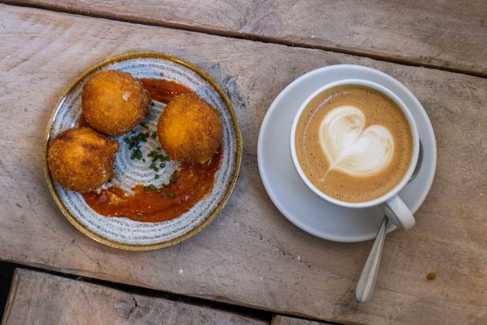 Croquettes and Coffee at Two Pups in Dublin