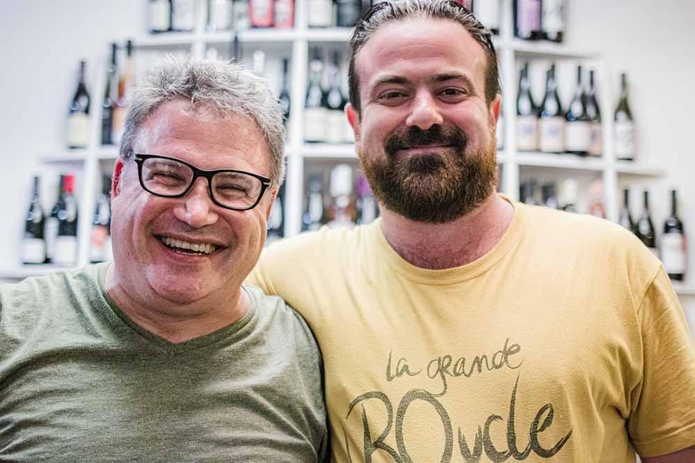 Daryl with Chef Thomas Brachet at Les Arlots in Paris
