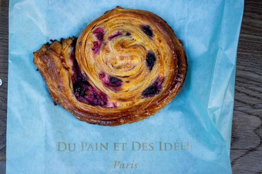 Escargot Fruit Rouges at Du Pain et des Idees in Paris
