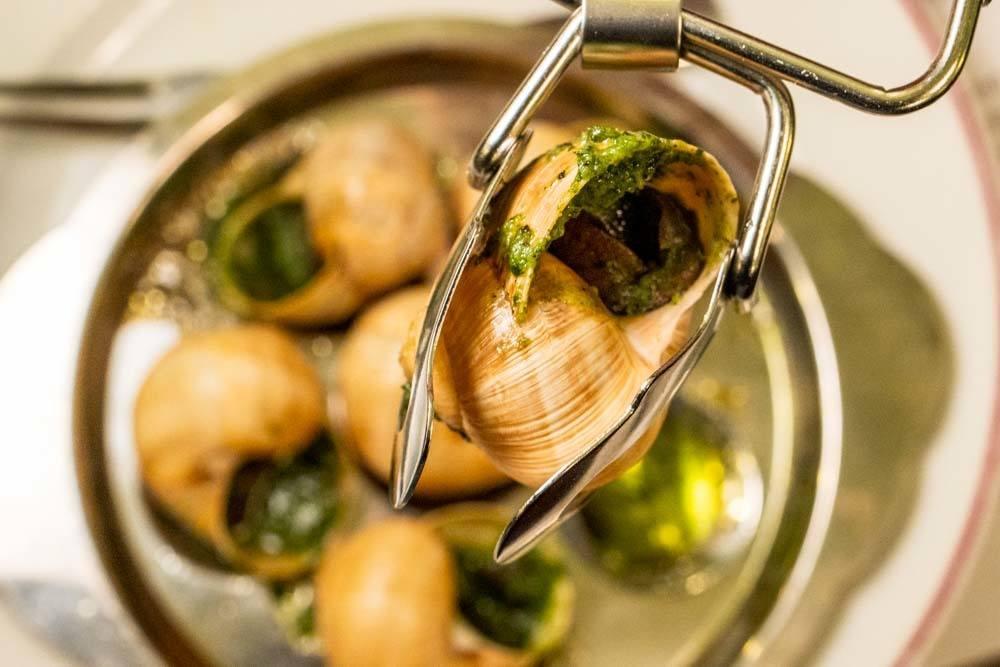 Escargot at Bouillon Julien in Paris