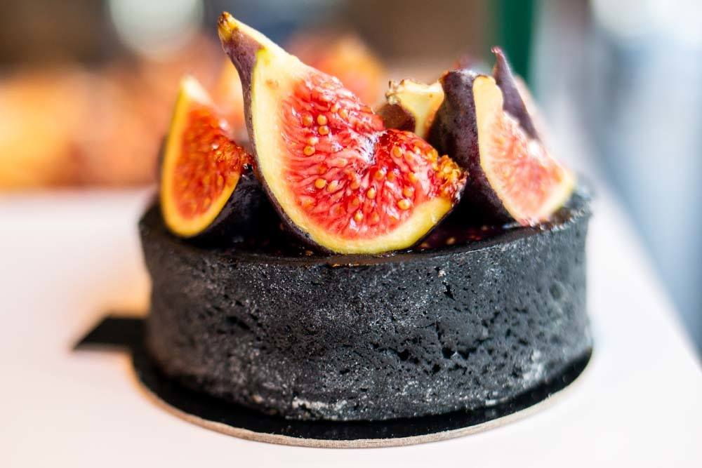 Fig Charcoal Tart at The French Bastards in Paris