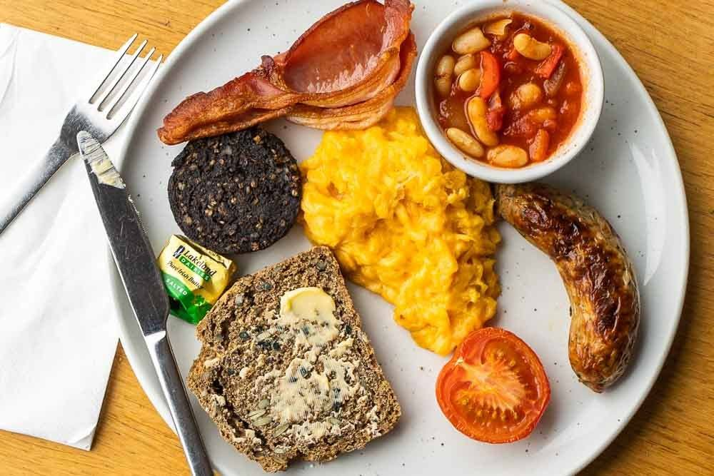 Full Irish Breakfast Plate at Herbstreet in Dublin